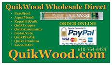 QuikWood, Epoxy Putty Stick, QuickWood,  Quick Wood, Polymeric systems, Inc. PSI